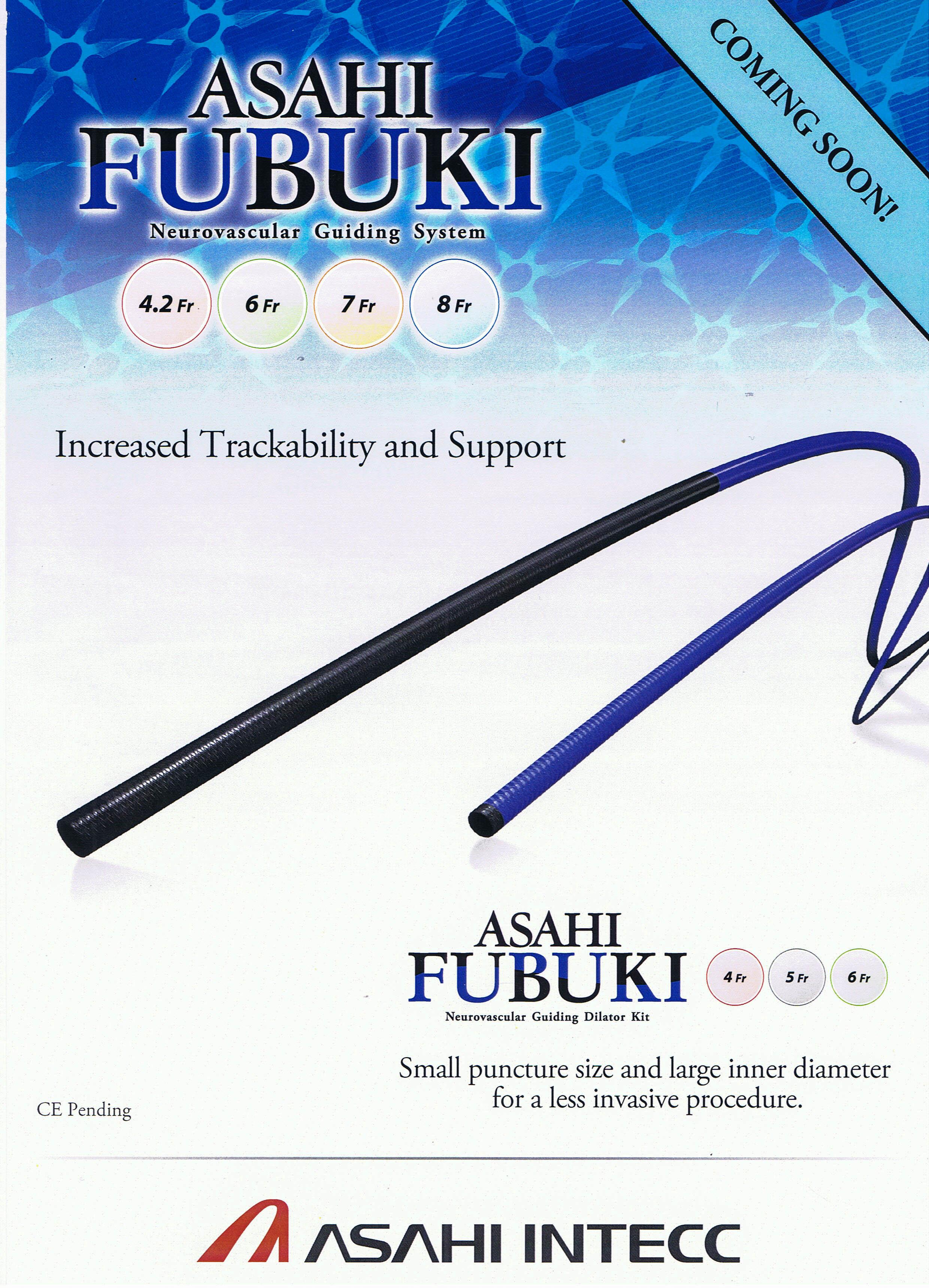 Fubuki Neurovascular Guiding System 4.2Fr, 6Fr, 7Fr & 8Fr